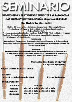 Roberto González en Valencia 13, 14 y 15 de junio