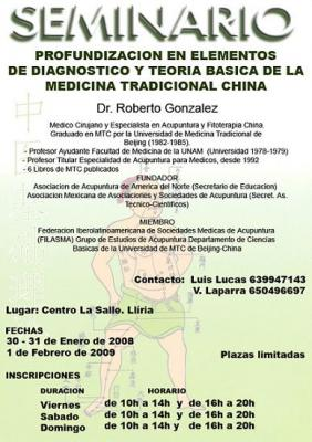 Seminario del Dr. Roberto González de Diagnóstico y Teoría Básica de MTC